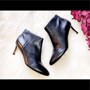 VIA SPIGA Black Leather Ankle Bootie